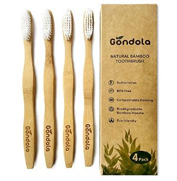 Cepillo de dientes natural de bambú